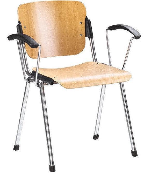 Кресло для посетителей ERA wood arm chrome