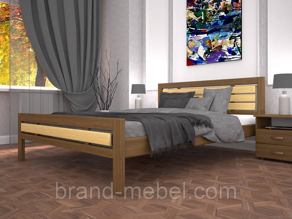 Дерев'яне ліжко двоспальне Модерн 1 / Деревянная кровать двуспальная Модерн 1