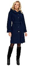 Пальто демисезонное женское NIO Collection Лора Темно-синий, пальто женское джени