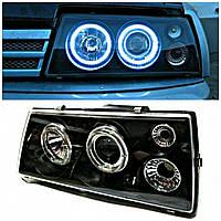 Передние фары ВАЗ 2108-2109-21099 (черный) комплект LED ламп.