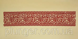 Сахарное украшение для торта Кружево №67 красное