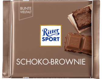 Ritter Sport Молочный шоколад + шоколадный бисквит