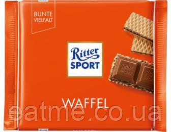 Ritter Sport Молочный шоколад и хрустящая вафля