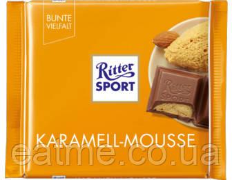 Ritter Sport Молочный шоколад с начинкой карамельный мусс