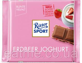 Ritter Sport Молочный шоколад с йогуртом и клубникой