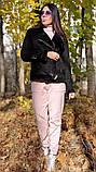 Дублянка жіноча зимова косуха коротка з хутром, багато квітів, фото 2
