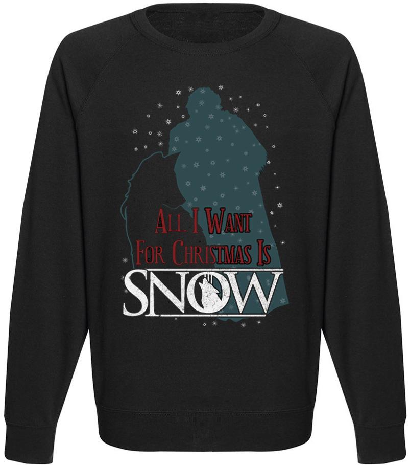 Чоловічий світшот Game Of Thrones - All I Want For Christmas Is Snow (чорний)