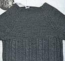 Свитер с люрексом для девочки серый  (İncity, Турция), фото 2
