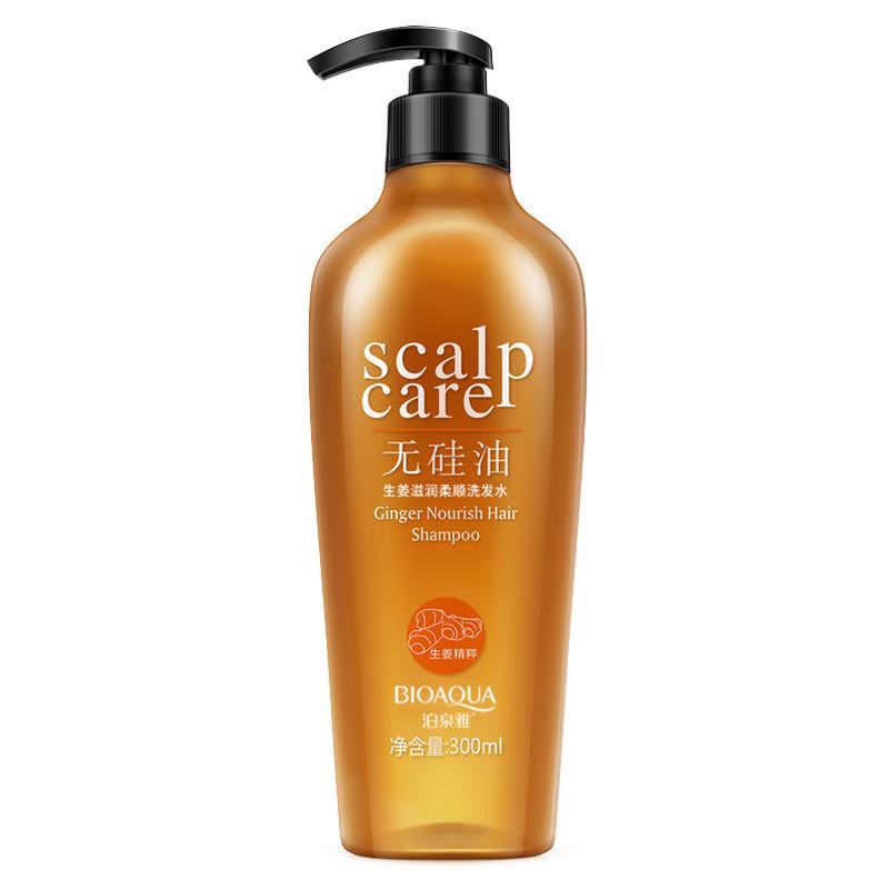 Шампунь с имбирем без силикона Bioaqua Scalp Care Ginger Nourish Hair Shampoo (300мл)