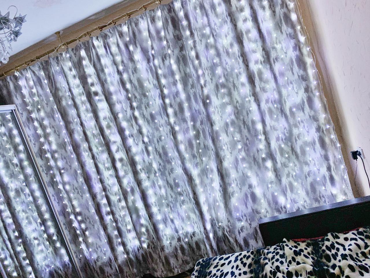 Гирлянда светодиодная Штора Роса 3м\2.5м белый холодный