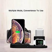Беспроводная зарядка. fast charger 3in1, Зарядная станция, для 3х гаджетов Apple
