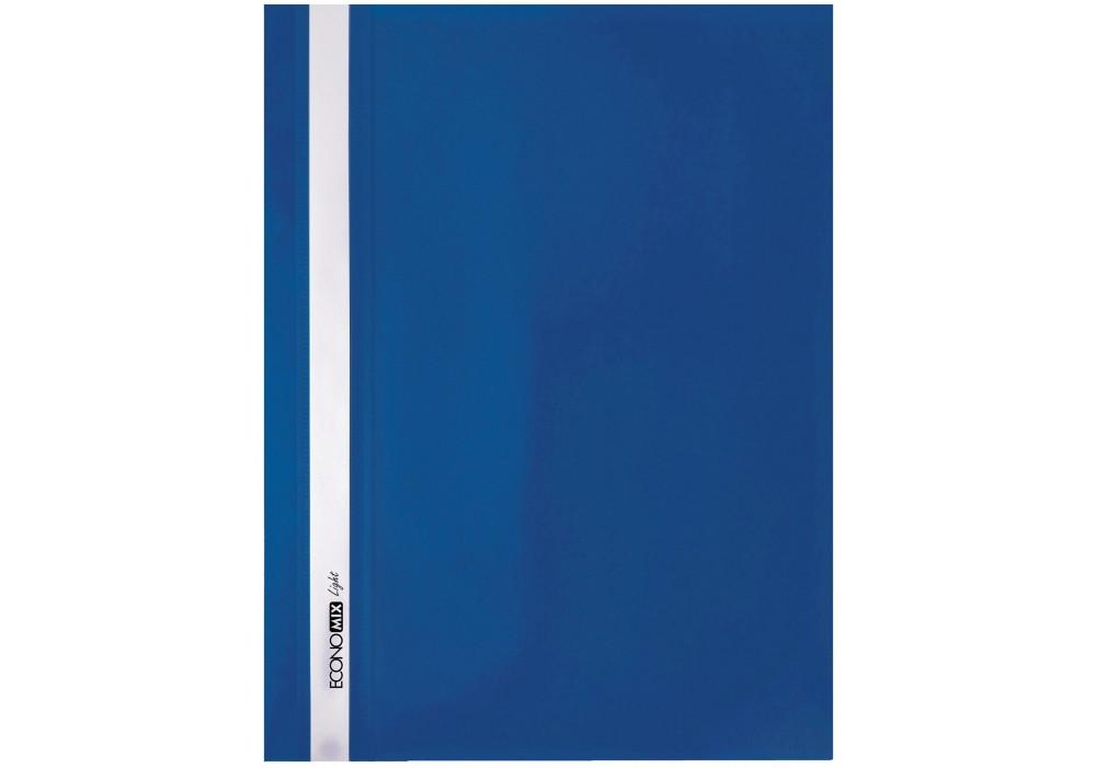 """Папка-скоросшиватель А4 Economix Light без перфорации, фактура """"Апельсин"""", синяя E38503-02"""