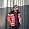 Мужская зимняя куртка Supreme x TNF (ТОП реплика)