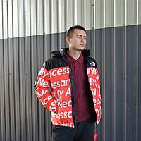 Мужская зимняя куртка Supreme x TNF (ТОП реплика), фото 1