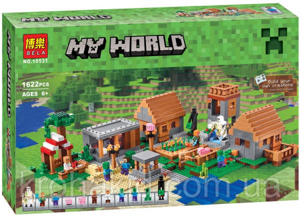 "Конструктор Bela 10531 ""Деревня"" (аналог Lego Майнкрафт, Minecraft 21128), 1622 деталей"