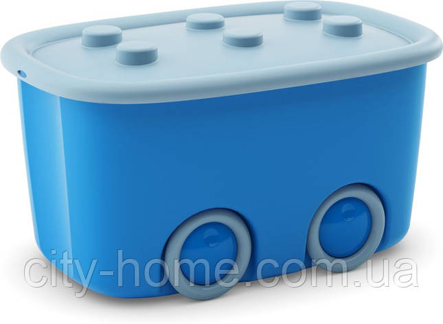 Ящик для игрушек Funny Box голубой, фото 2