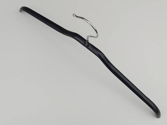 Плечики вешалки тремпеля металлический в силиконовом покрытии черного цвета, длина 42  см, фото 2