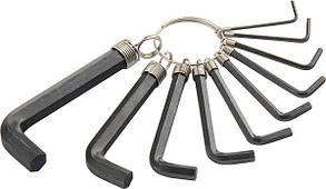 Набор ключей имбусовых Torx9 шт: T10, 15, 20, 25, 27, 30, 40, 45, 50, оксидированные, на кольце Sparta