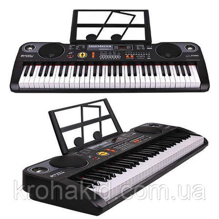 Детский синтезатор / пианино / орган MQ-6115 + микрофон - 61 клавиша, фото 2