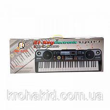Детский синтезатор / пианино / орган MQ-6115 + микрофон - 61 клавиша, фото 3