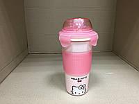 Термокружка фарфоровая с поилкой и ситом Hello Kitti 500 мл., фото 1