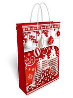 Пакет подарочный 24 х 36,5 см. Новогодний 31.065