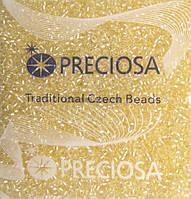 Чешский бисер Preciosa №38283 (прокрашенный, светло-жёлтый)10/0