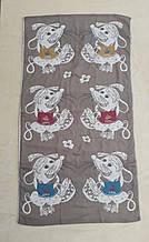 Рушник банний Мишки на коричневому