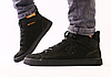 Ботинки мужские демисезонные черные из натурального нубука
