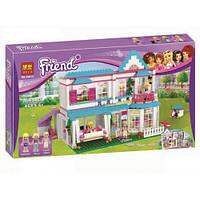 """Конструктор Bela 10612 """"Дом Стефани"""" (аналог LEGO Friends 41314), 649 деталей"""