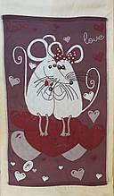 Полотенце для лица Мышки пара терракот