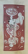 Рушник для рук Мишка-кухар теракот