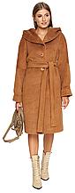 Пальто зимнее женское NIO Collection Лора Camel, пальто шерстяное женское