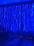 Гирлянда штора роса 3 на 2 5 белый тёплый ,холодный белый ,синий ,мульти, фото 7
