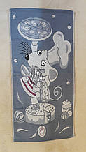 Рушник для рук Мишка-кухар на сірому