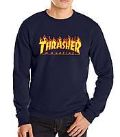 "Свитшот  синий Thrasher Magazine| Кофта Thrasher Magazine """" В стиле Thrasher """""