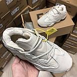 Жіночі зимові кросівки Adidas Yeezy 500 Bone White з хутром 37-41рр. Живе фото. Репліка, фото 4