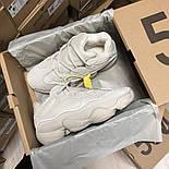 Жіночі зимові кросівки Adidas Yeezy 500 Bone White з хутром 37-41рр. Живе фото. Репліка, фото 5