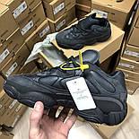 Женские зимние кроссовки Adidas Yeezy 500 Black мехом 36-45рр. Живое фото. Реплика, фото 3