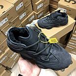 Женские зимние кроссовки Adidas Yeezy 500 Black мехом 36-45рр. Живое фото. Реплика, фото 4
