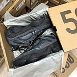 Женские зимние кроссовки Adidas Yeezy 500 Black мехом 36-45рр. Живое фото. Реплика, фото 5