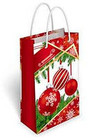 """Пакет подарочный 11 х 17,5 см.""""Ёлочные шары"""" 36.205"""
