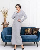 Длинное вязаное платье Размер 42 44 46 В наличии 8 цветов, фото 1