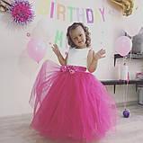 Пышное нарядное платье с цветами Лилия на 4-5, 6-7, 8-9 лет, фото 8