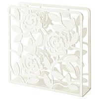 IKEA Салфетница, белый, 16x16 см
