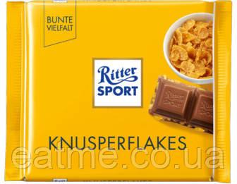 Ritter Sport Молочный шоколад с кукурузными хлопьями