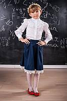 Школьная расклешенная юбка для девочки 508 Оптом и в розницу, фото 1