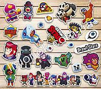 Набор наклеек Brawl stars (Коллекция №1) с героями любимой игры, стикеры Бравл Старс