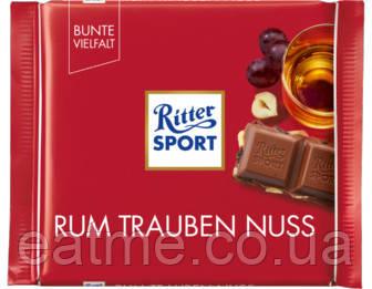 Ritter Sport Молочный шоколад с ромом, изюмом и фундуком
