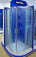 Кабина душевая полукруглая 9001-R (90х90х195)/ стекло ROLA/ поддон - 15см
